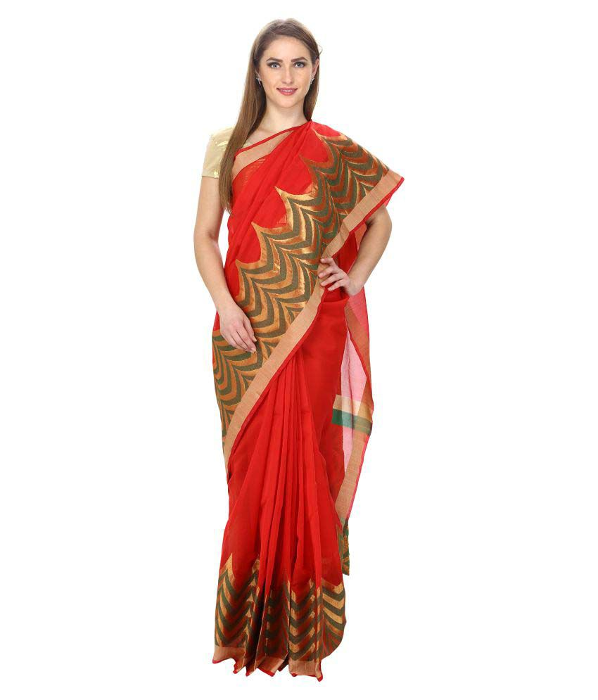 f863bc5b69cdc7 Loom Legacy Red Silk Saree - Buy Loom Legacy Red Silk Saree Online ...