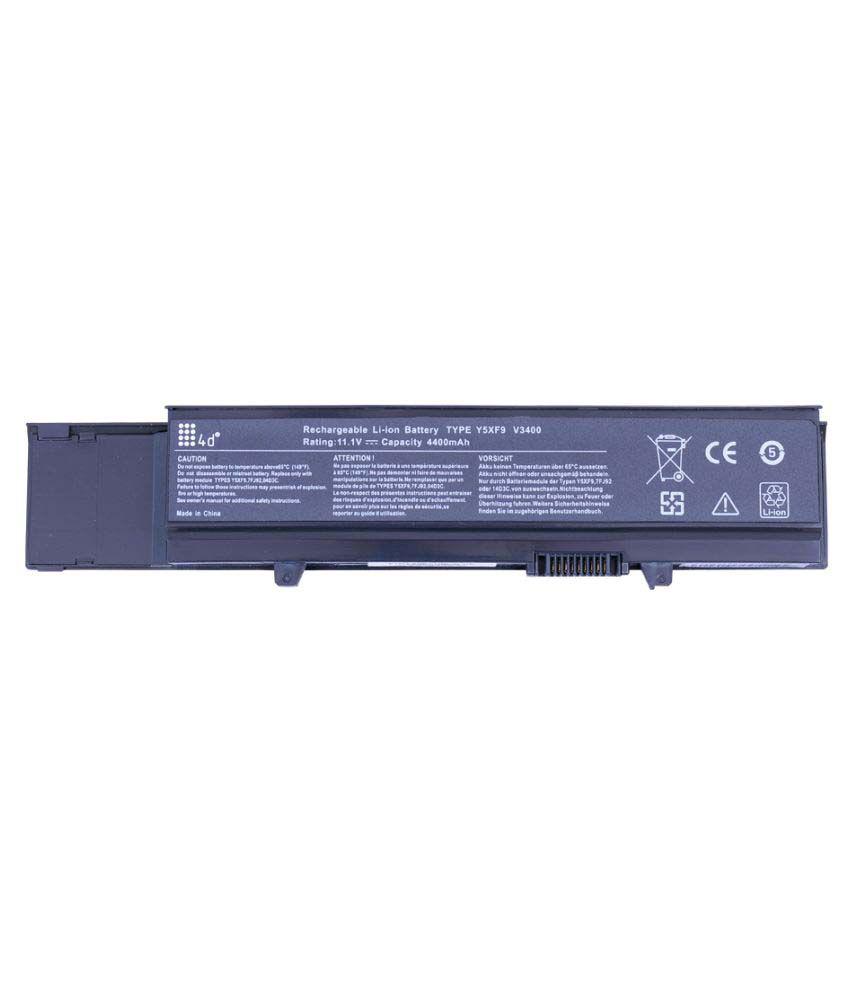 4d Impex Laptop battery Compatible For Dell 4d-DELL-VSTR-V3400-6CLB