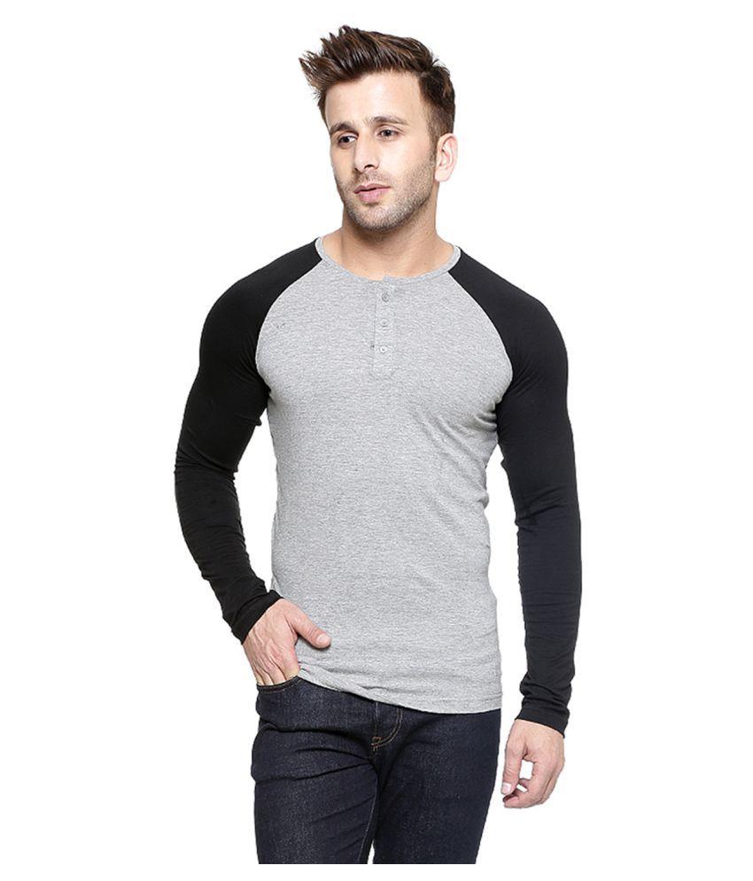 Gespo Grey Henley T-Shirt