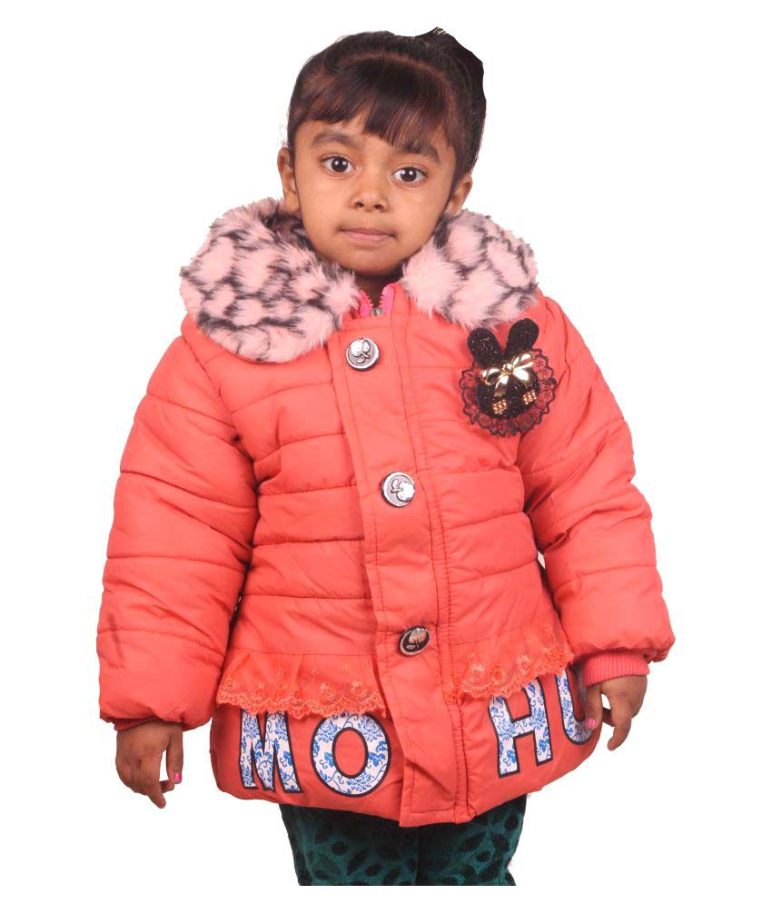 Owlkart Peach Polyester Jacket