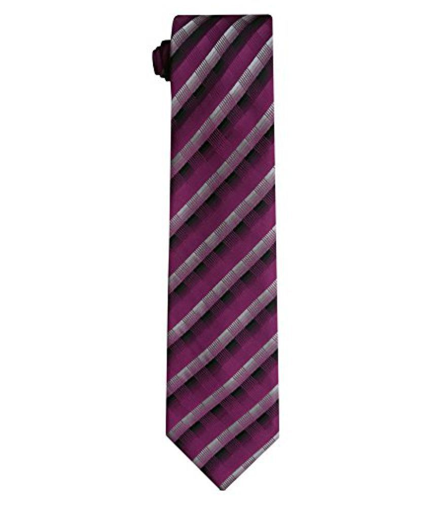 Silk & Satin Pink Polyester Micro Fiber Tie for Men