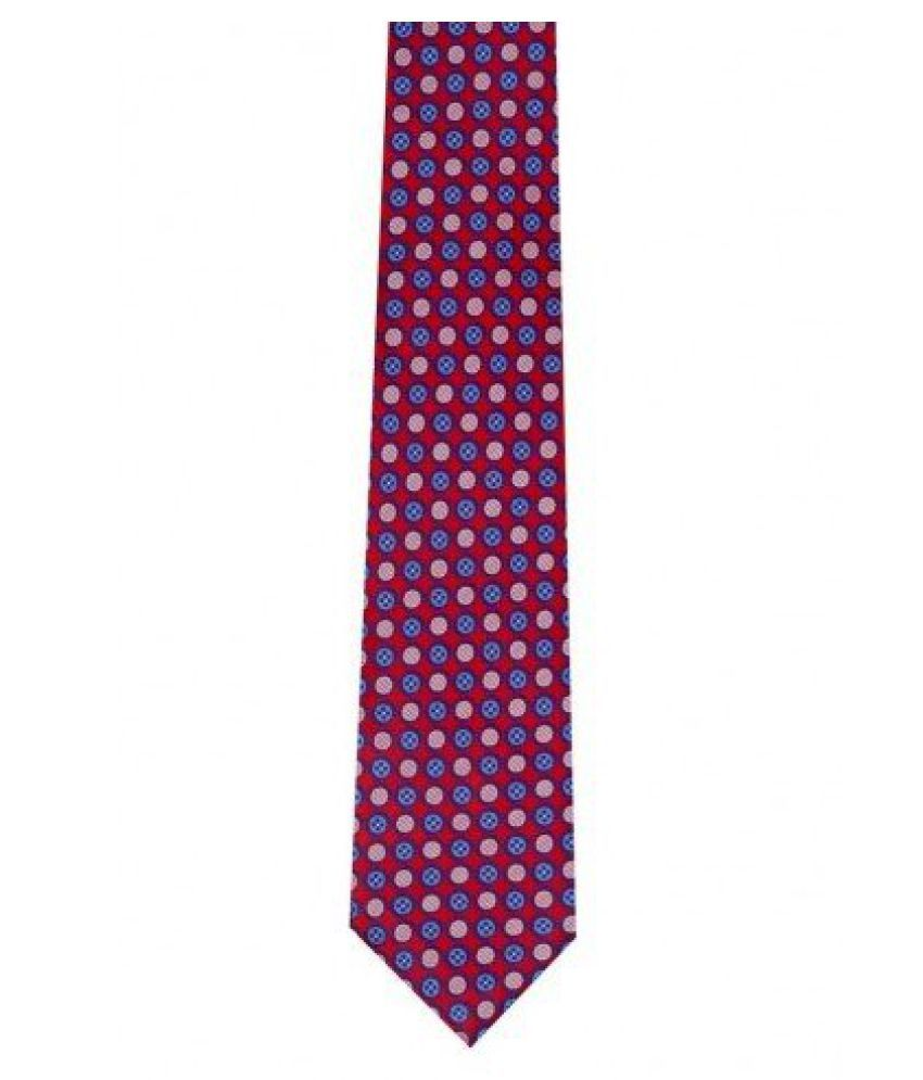 Tiekart Mens Synthetic Tie -Red -Free Size (Dm57_Red)