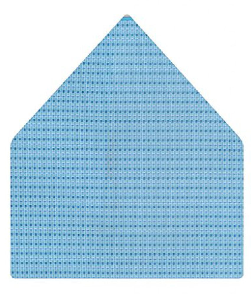 Tiekart Self Design Micro Fibre Pocket Square (Ps288_Blue)
