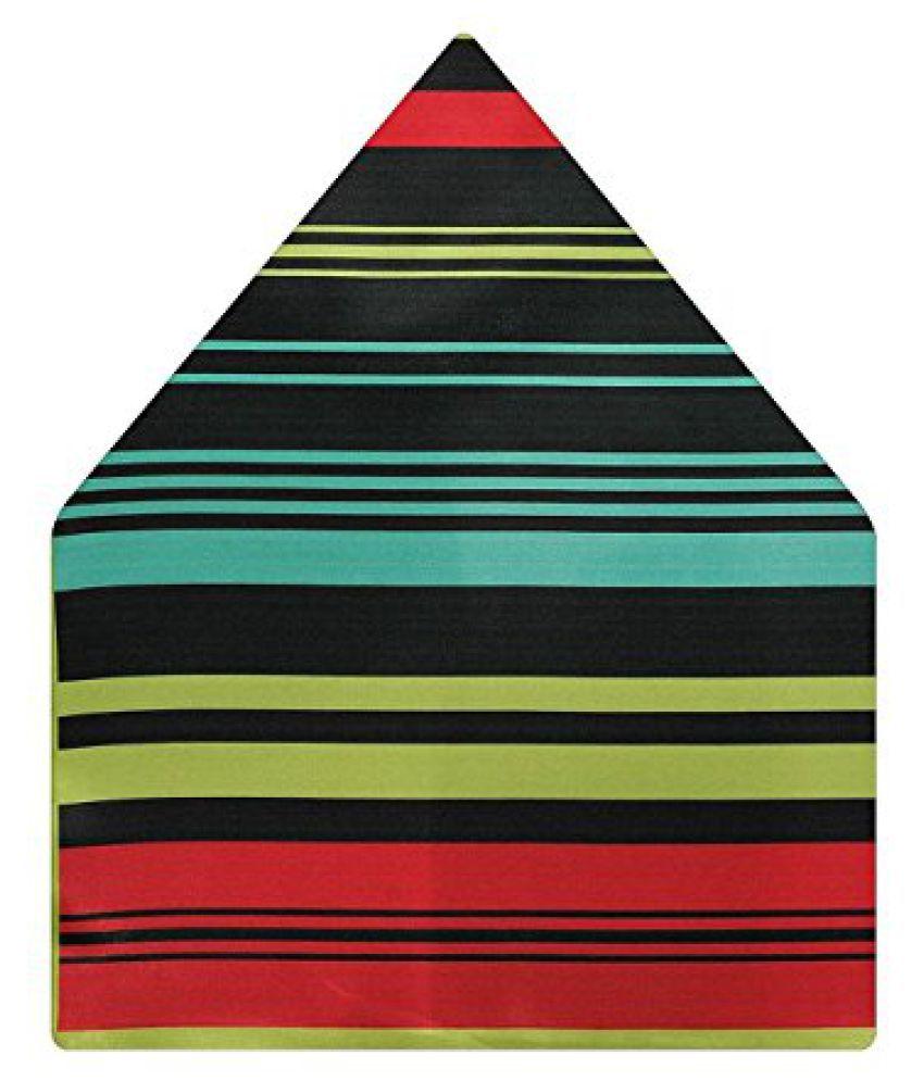 Tiekart Striped Polyester Pocket Square (Ps532_Multi-Coloured)