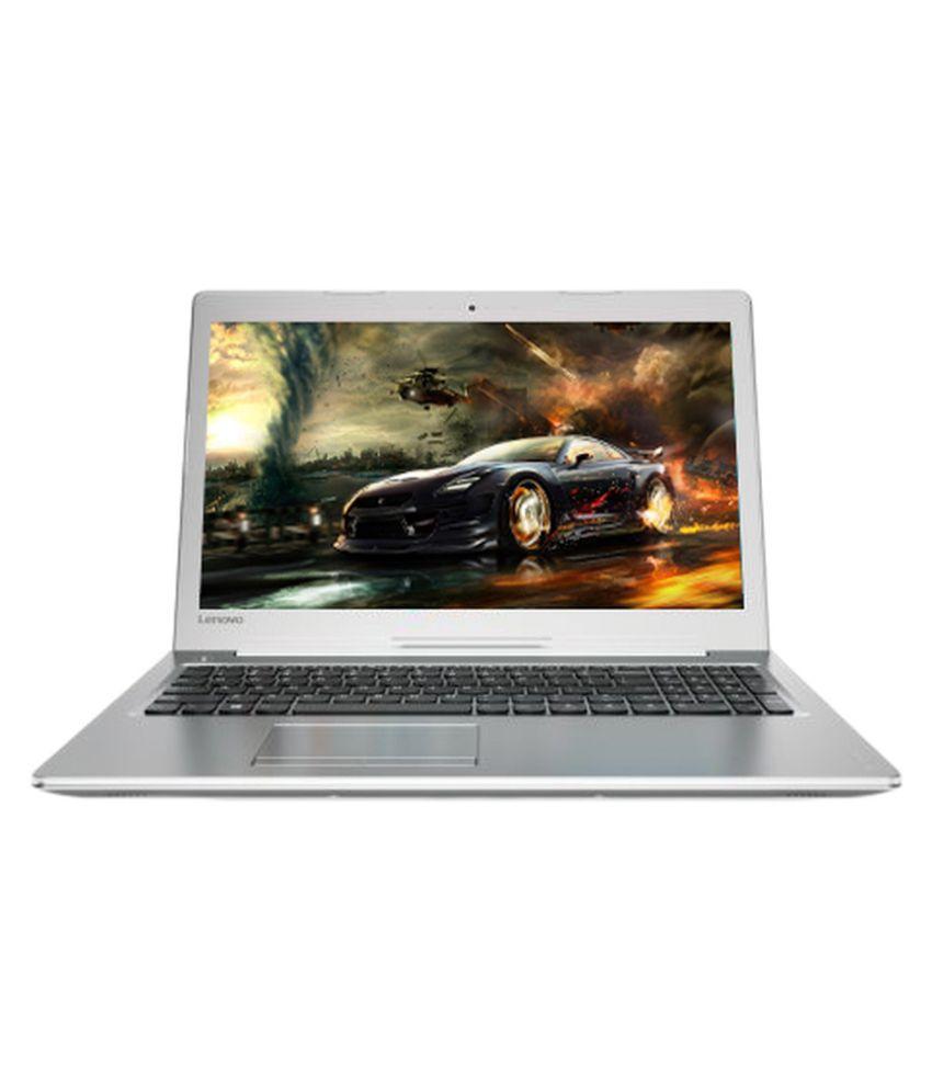 Lenovo Ideapad 510 (80SV00FFIH) Notebook Core i7 (7th Generation) 8 GB 39.62cm(15.6) Windows 10 Home 4 GB Silver