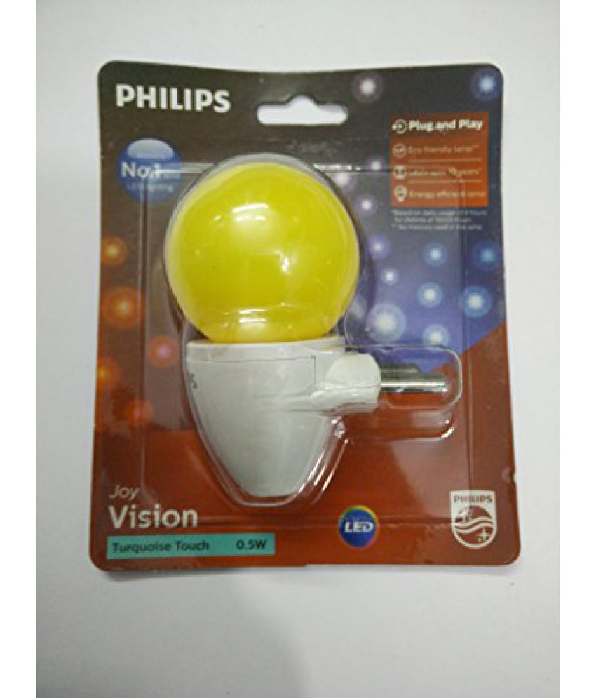 Philips Joy Vision Turquoise Touch 0.5 Watt Led Lamp Plug And Play Snapdeal Rs. 169.00