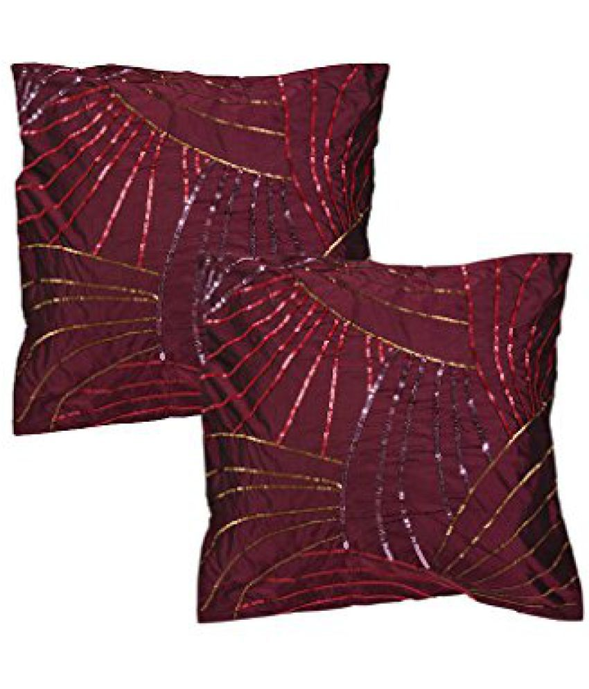 Home Dcor Sofa Pillow case Purple 40x 40 cm Polyster Designer Premium Quality Yarn Dyed Cushion Cover 16