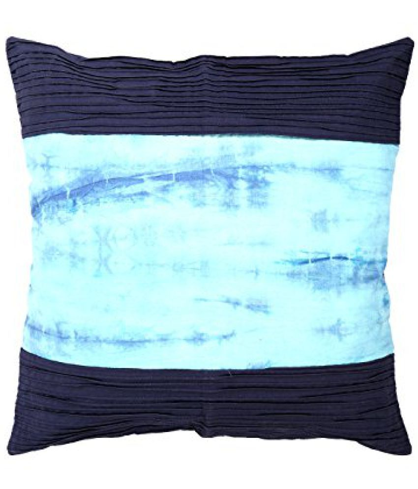 Indian Ethnic Blue Pillow cover Cotton Tie Dye Cushion Cover 18 Inch X 18 Inch Single Abstract Home Furnishing Sofa set By Rajrang