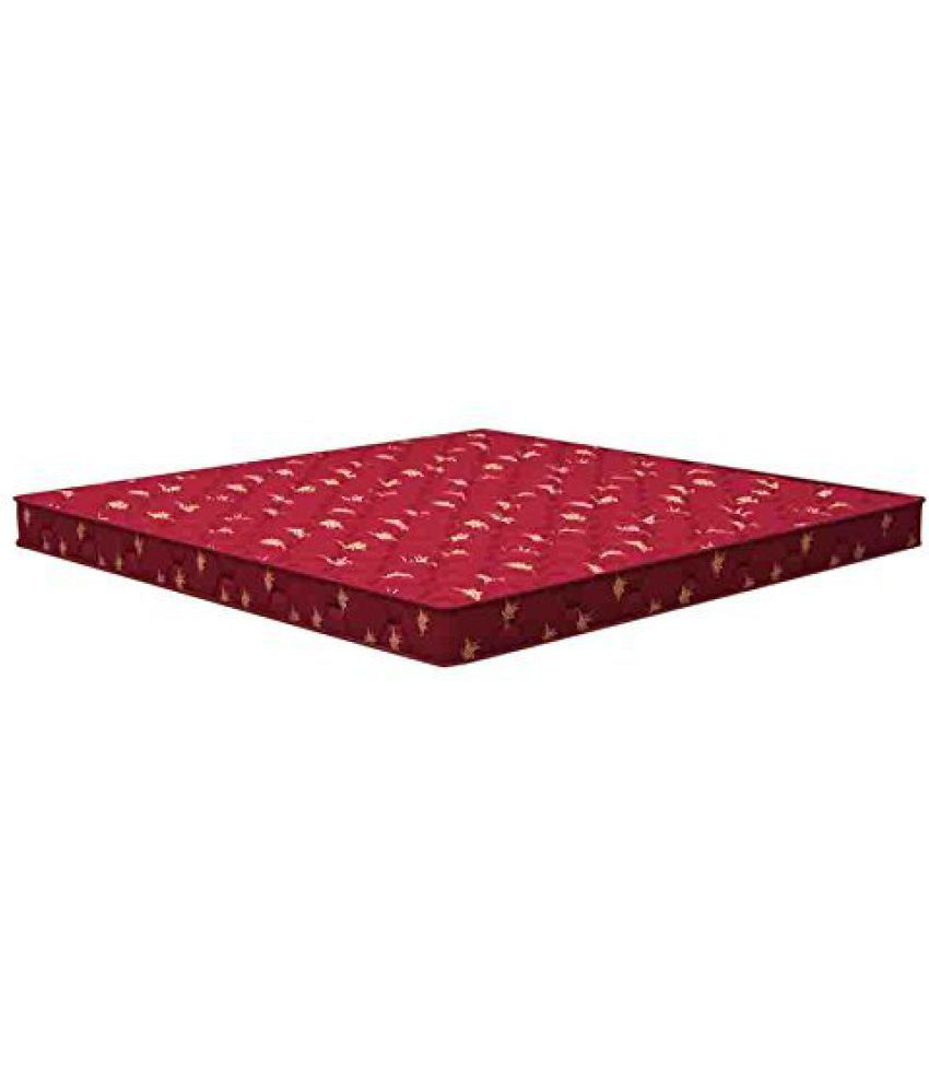 sleepwell inspire firmtec mattress 72 x 48 x 4 5 inches maroon