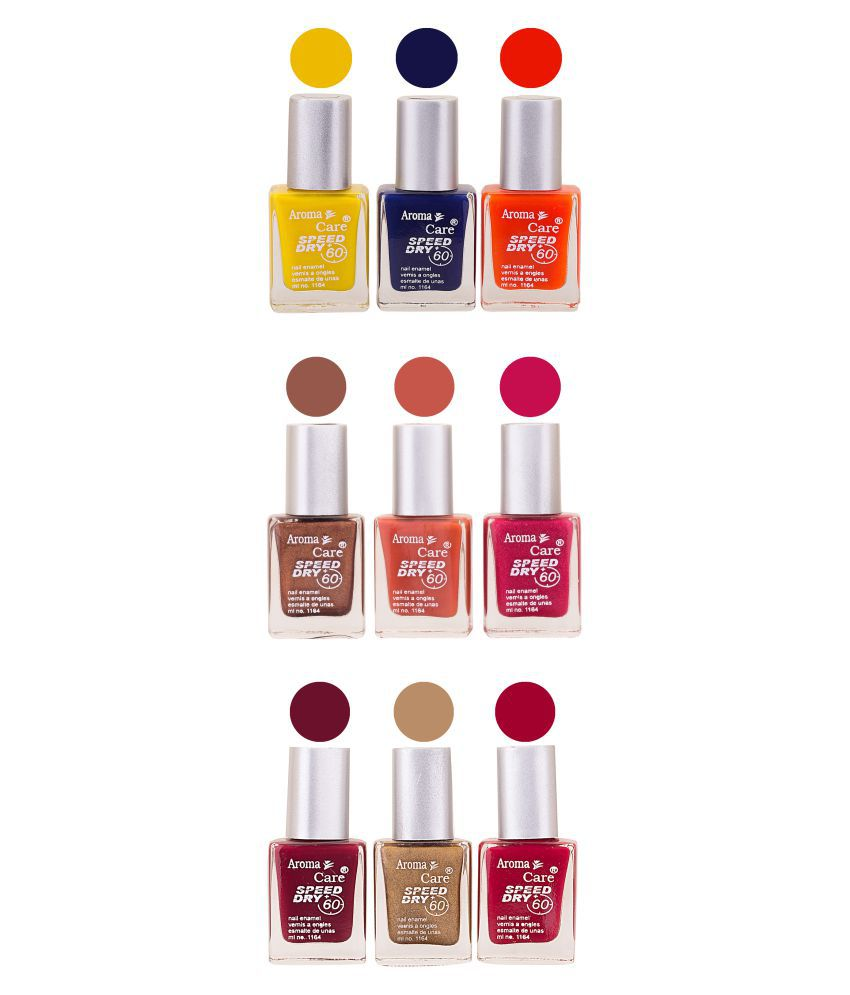 Aroma Care Nail Polish Multicolor Matte 81 ml Pack of 9