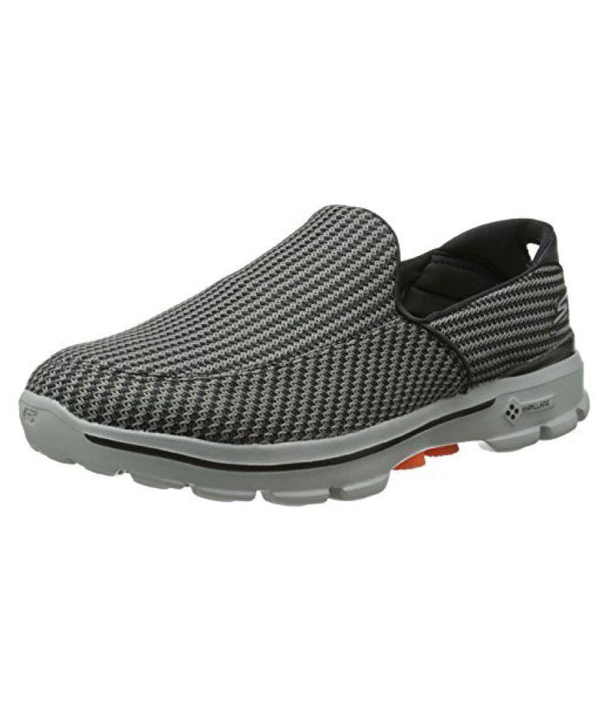 9dcca95a25aa Skechers Performance Men s Go Walk 3 Slip-On Walking Shoe Charcoal Orange  8.5 D(M) US - Buy Skechers Performance Men s Go Walk 3 Slip-On Walking Shoe  ...