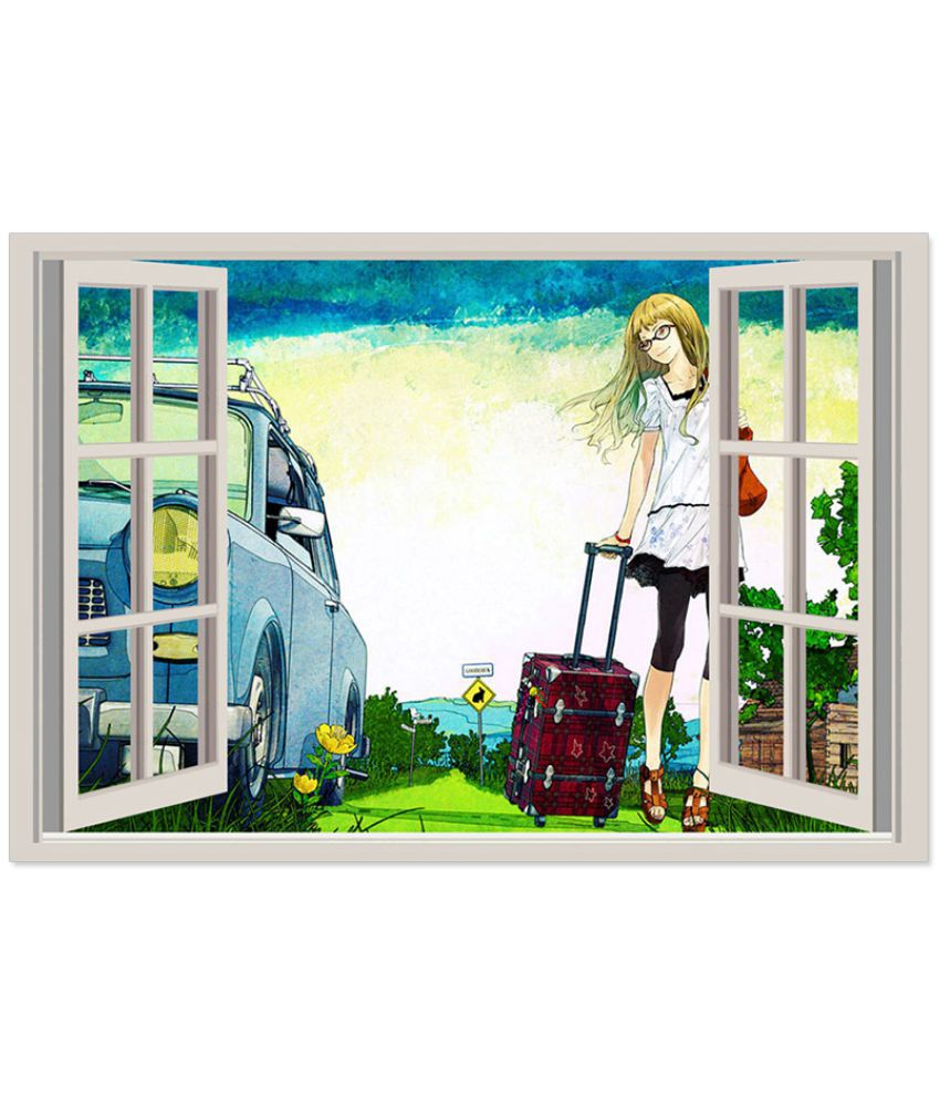 FineArts Window Paper Wall Poster Without Frame Single Piece