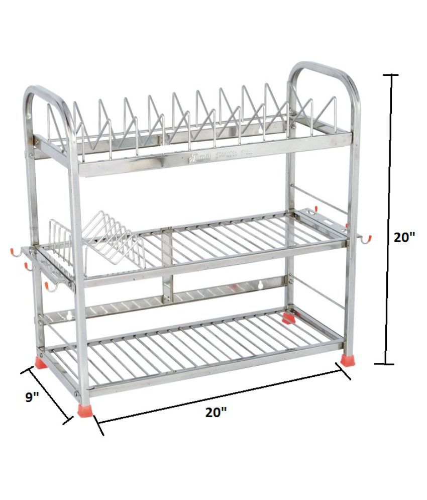 buy amol stainless steel utensils rack online at low price in india rh snapdeal com