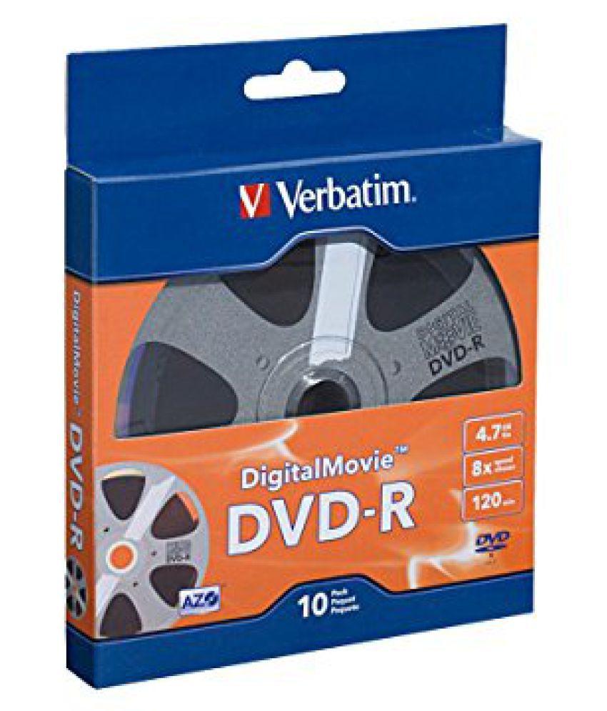 Verbatim 4.7 GB 8x Digital Movie Recordable Disc DVD-R, 10-Disc 97946