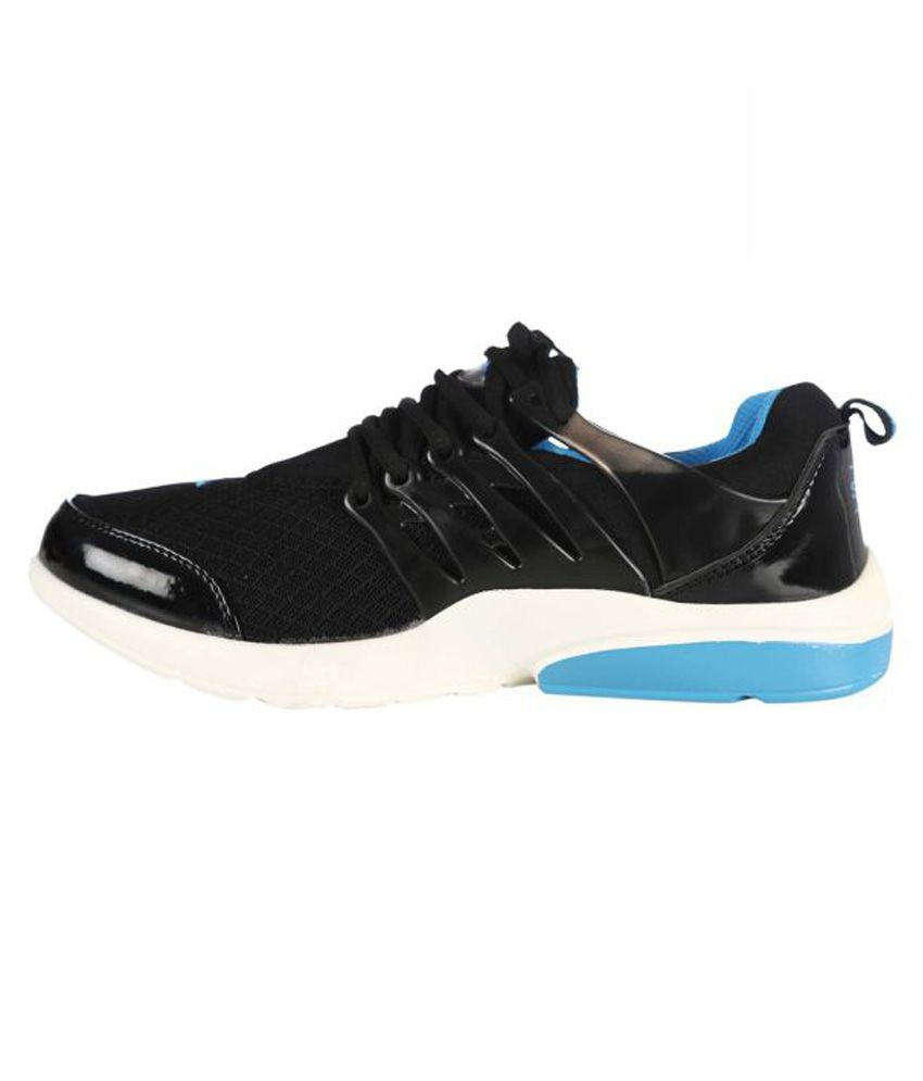 Blue Tag Black Running Shoes