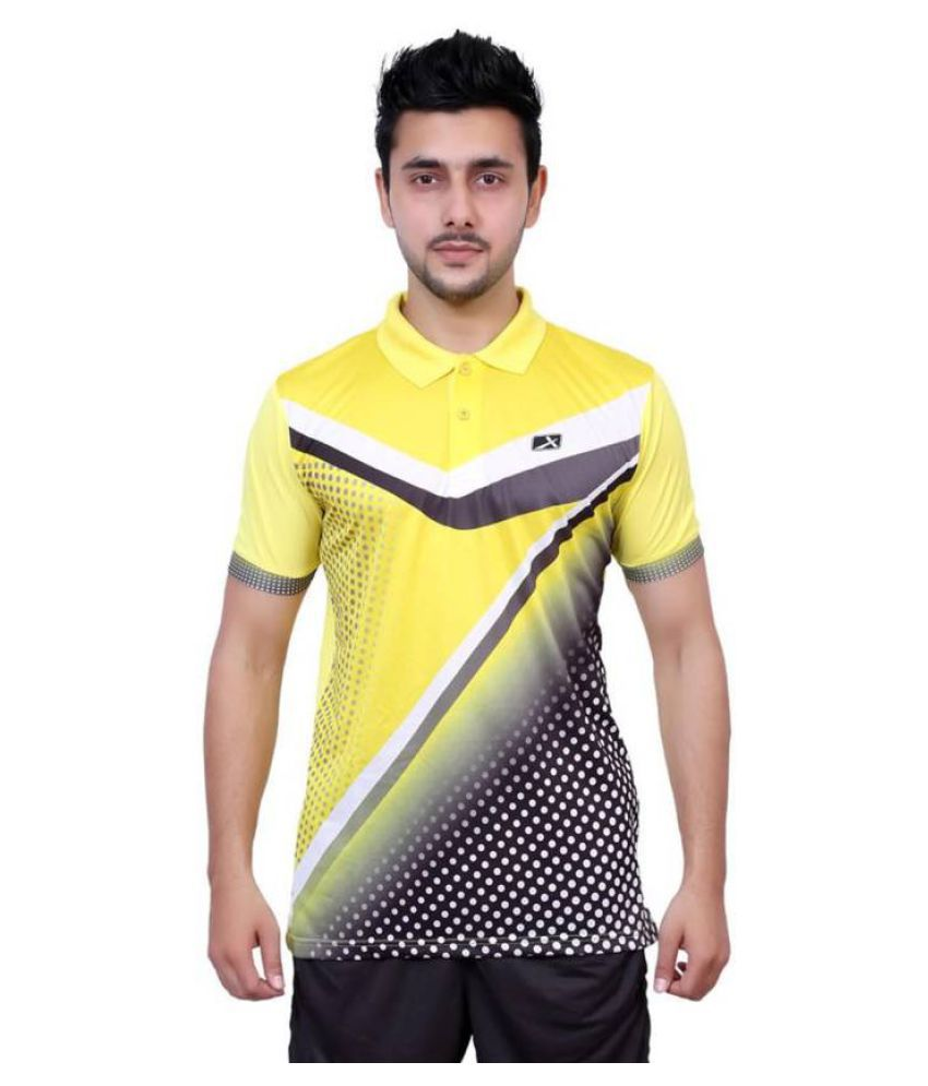 Vector X Multicolour Printed Men's Polo Neck T-Shirt