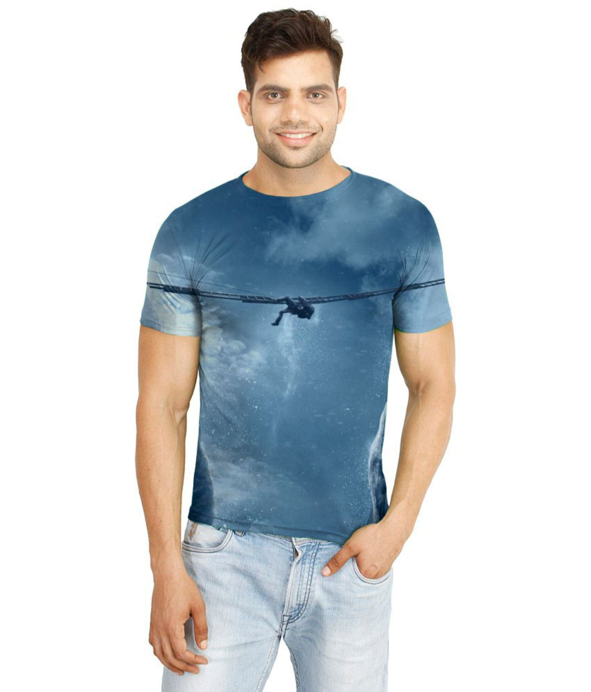 Flingr Multi Polyester T-Shirt Single Pack