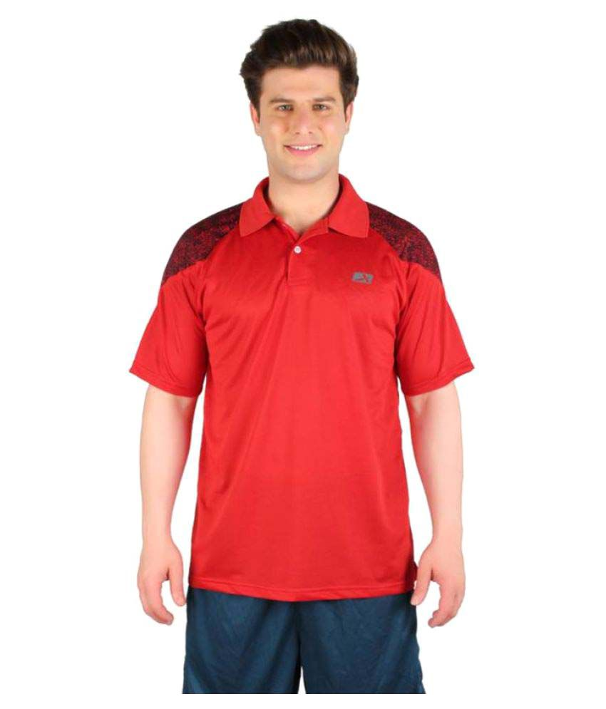 Vector X Red Polo Neck Men T-Shirt