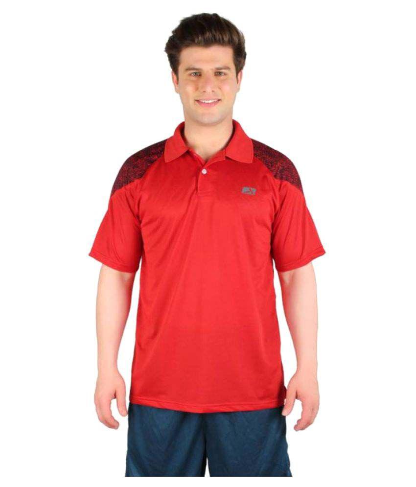 Vector X Red Polo Neck Men T-Shirt