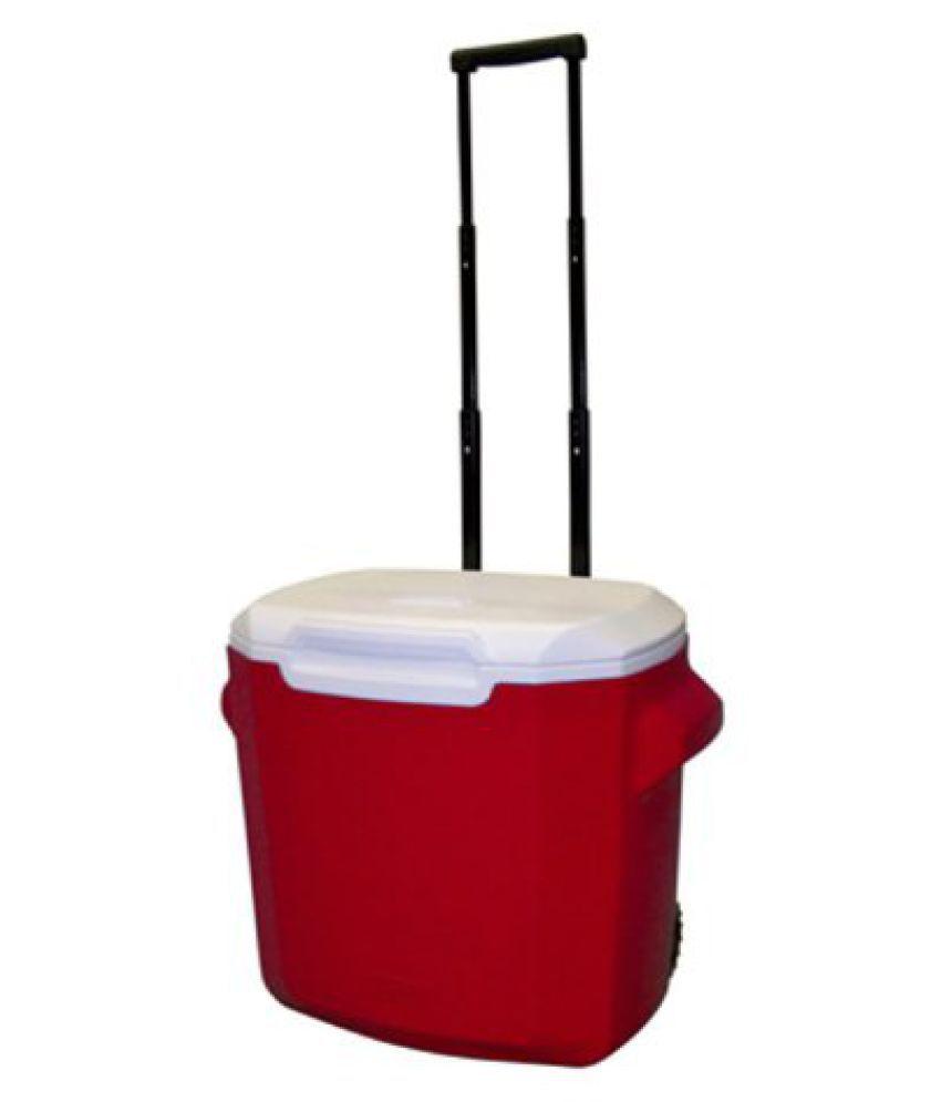Coleman 28Qt Wheeled Cooler (Red)