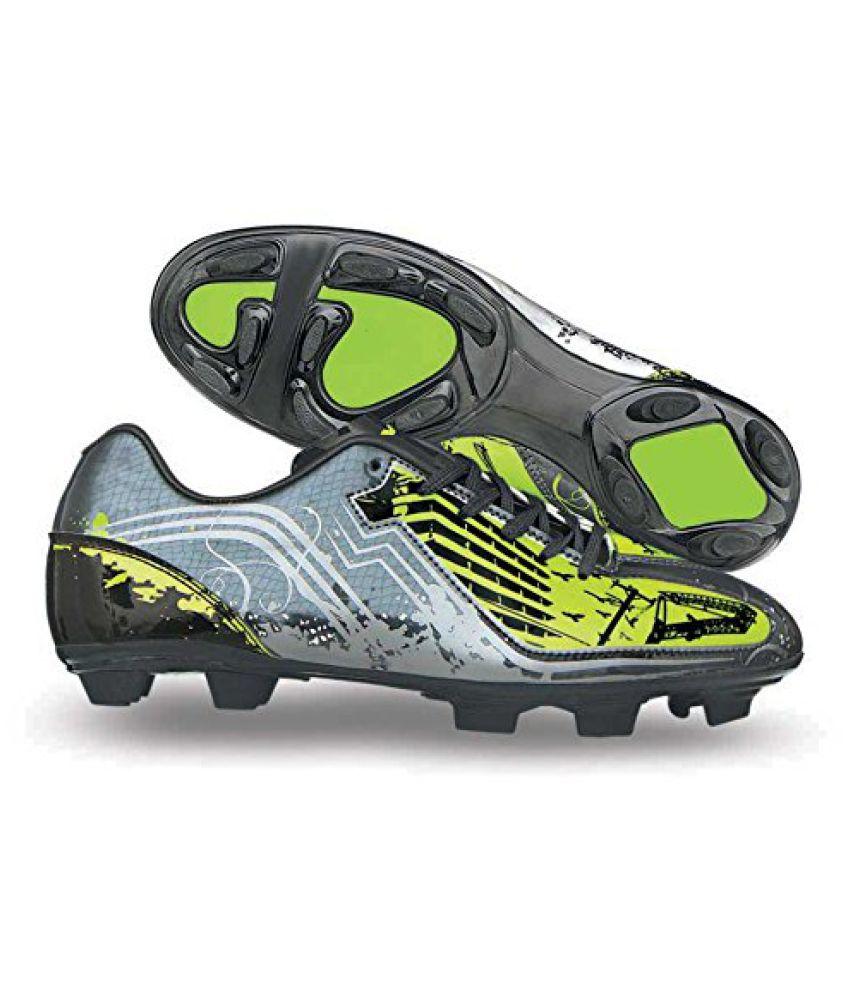 Nivia Oslar Football Shoes, Mens 4 UK (Grey/Green)