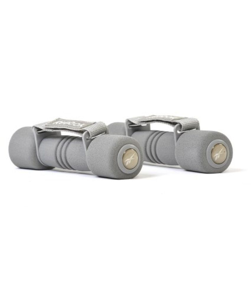 Reebok Elements Soft Grip Dumbbells 1.0kg Grey