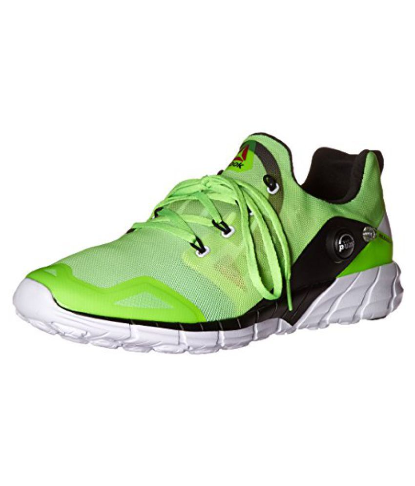 Reebok Men s Zpump Fusion 2.0 Running Shoe Solar Green/Seafoam Green/Solar Yellow/Black/White 13 D(M) US