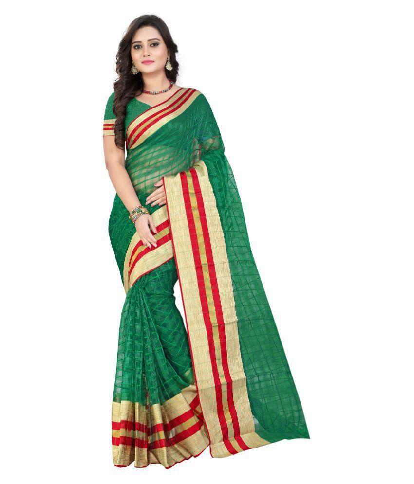 Vala Fashion World Green Silk Saree