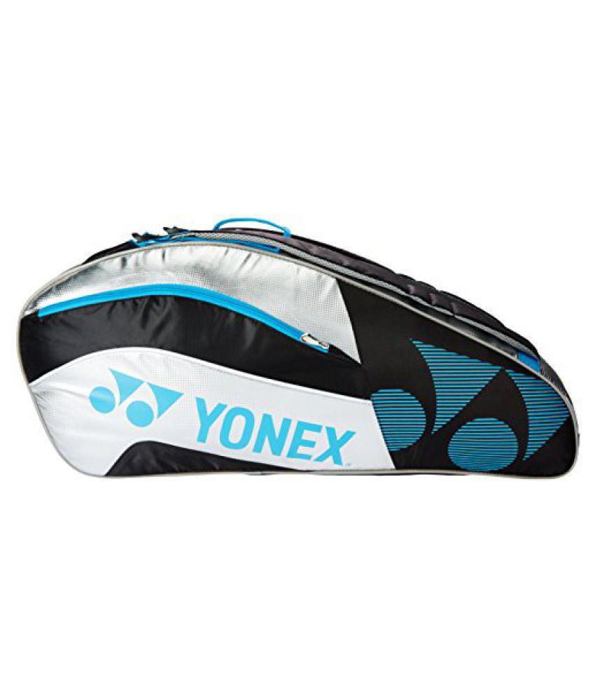Yonex Badminton Kit Bag SUNR 8529 TG BT9 SR (Black/Silver)