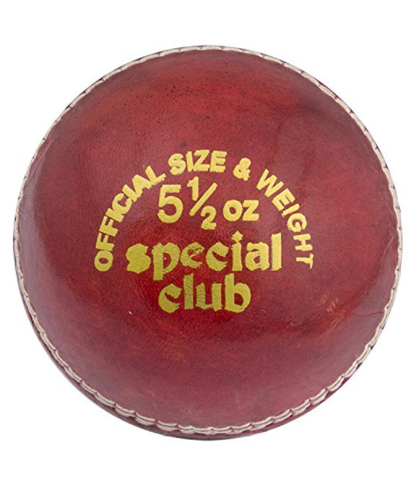 HAWK Special Club Mens Cork Cricket Ball 3 Pc Red