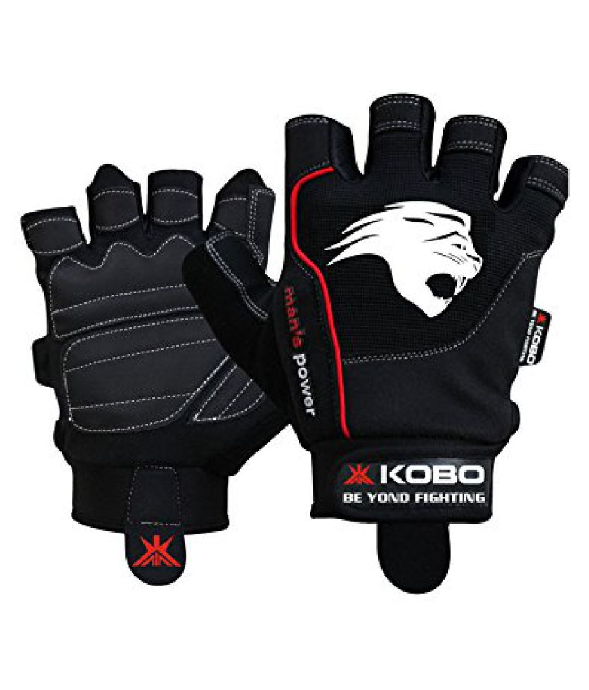 KOBO Fitness Gloves / Weight Lifting Gloves / Gym Gloves (Imported)