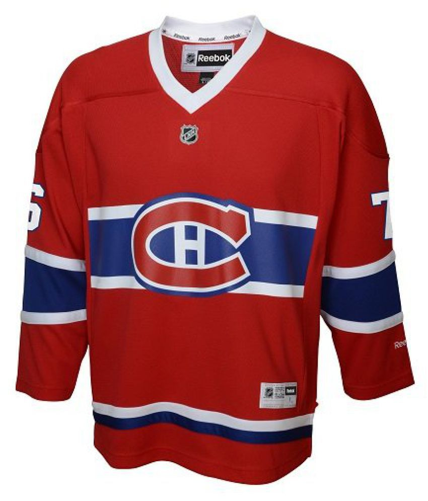 LNH Montreal Canadiens Boys Team Replica Player Jersey, Small/Medium, Red