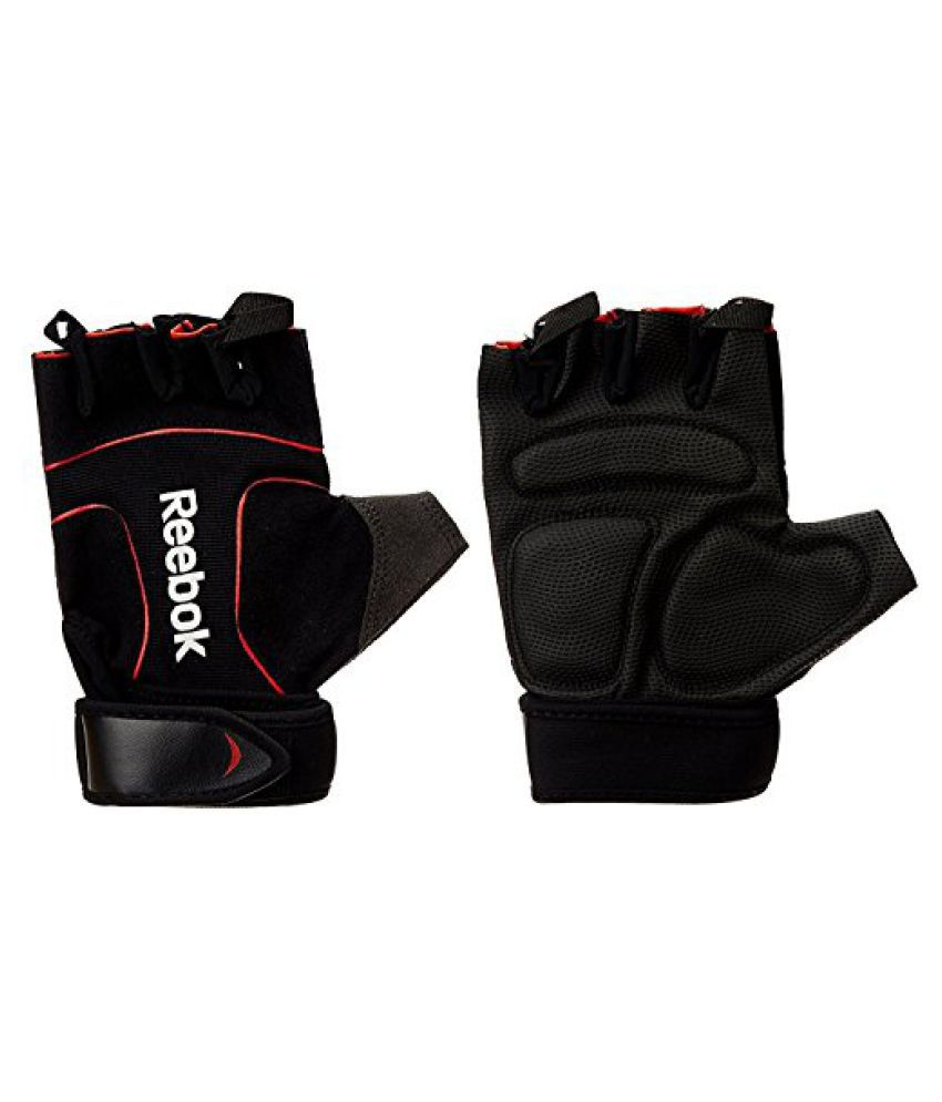 Reebok Lifting Gym/Training Gloves Black/Red