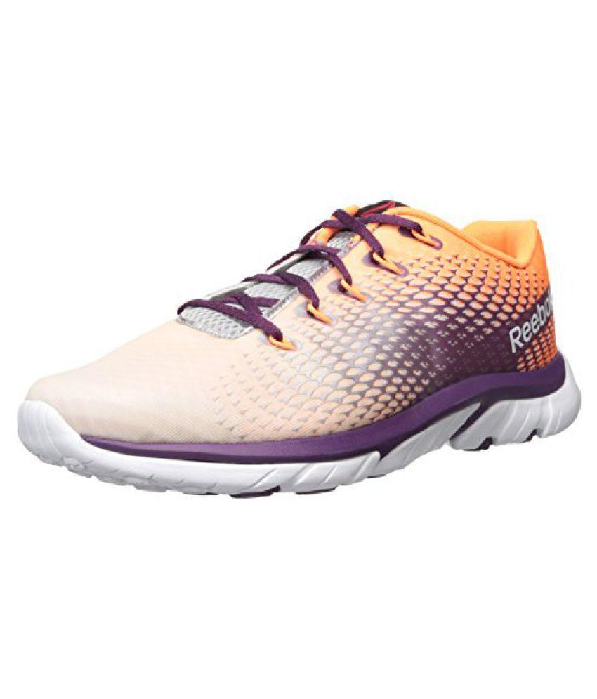 Reebok Women s Zstrike Elite Running Shoe White/Pure Silver/Steel/Electric Peach/Orchid 10.5 B(M) US