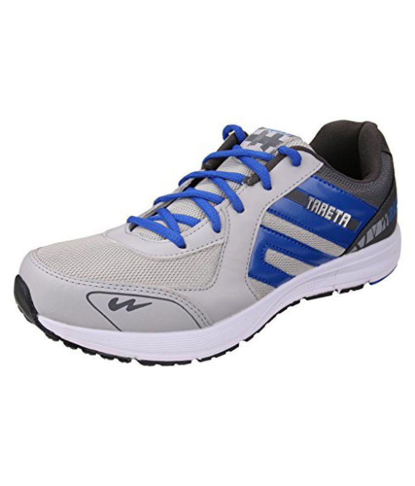 Action Campus Mens Dark Grey Royal Blue Synthetic and Nylon Mesh Sports Shoes 6UK