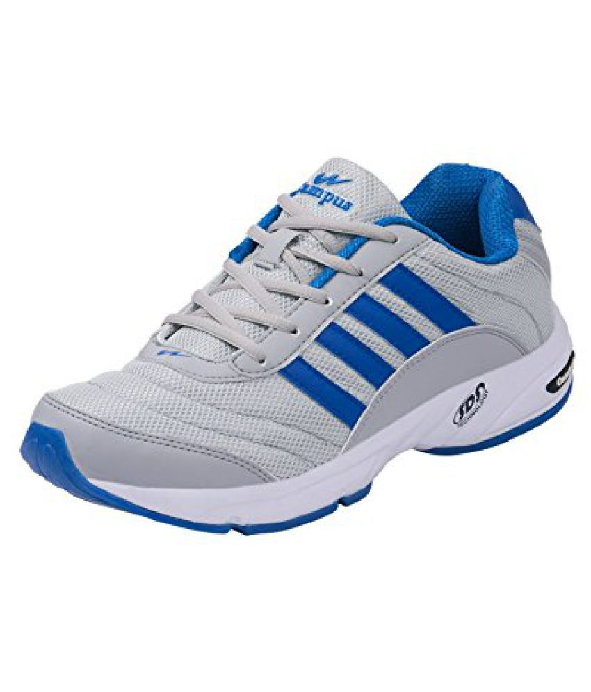 Campus ANTRO-3 Men Light Grey & Royal Blue Sport Shoes