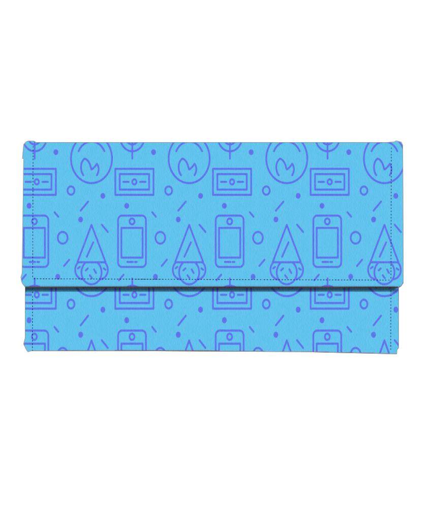 Mukesh Handicrafts Blue Wallet