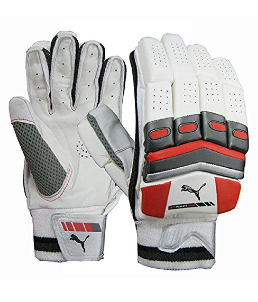 Puma White/Black Batting Gloves