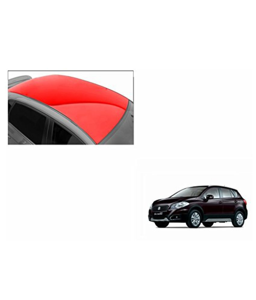 Speedwav Car Roof Glossy Wrap Sheet Red-Maruti S-Cross