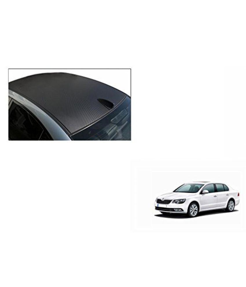 Speedwav Car Roof Wrap Sheet Carbon Design Matt Black-Skoda Superb Type 2 (2012-2015)