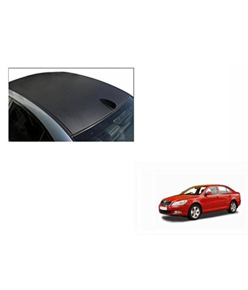 Speedwav Car Roof Wrap Sheet Carbon Design Matt Black-Skoda Laura Type 1 (2004-2012)