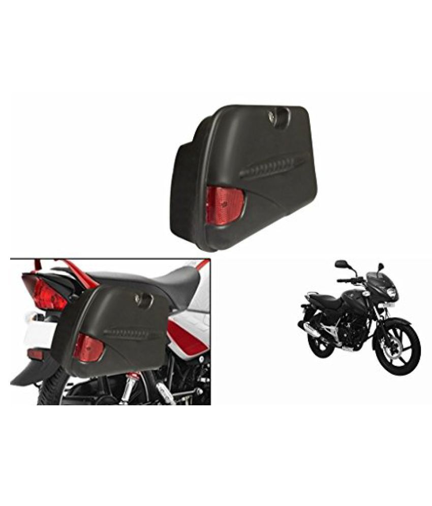Speedwav SB-R Bike Side Box With Lock & Reflector Black-Bajaj Pulsar 150 DTS-i Type 3