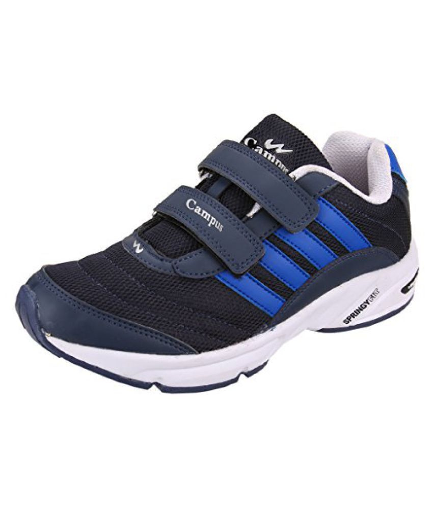 Action Campus Kids's Navy White Sky Synthetic and Nylon Mesh Sports Shoes