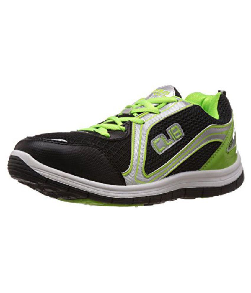 Columbus Men Black Green Sports Shoes