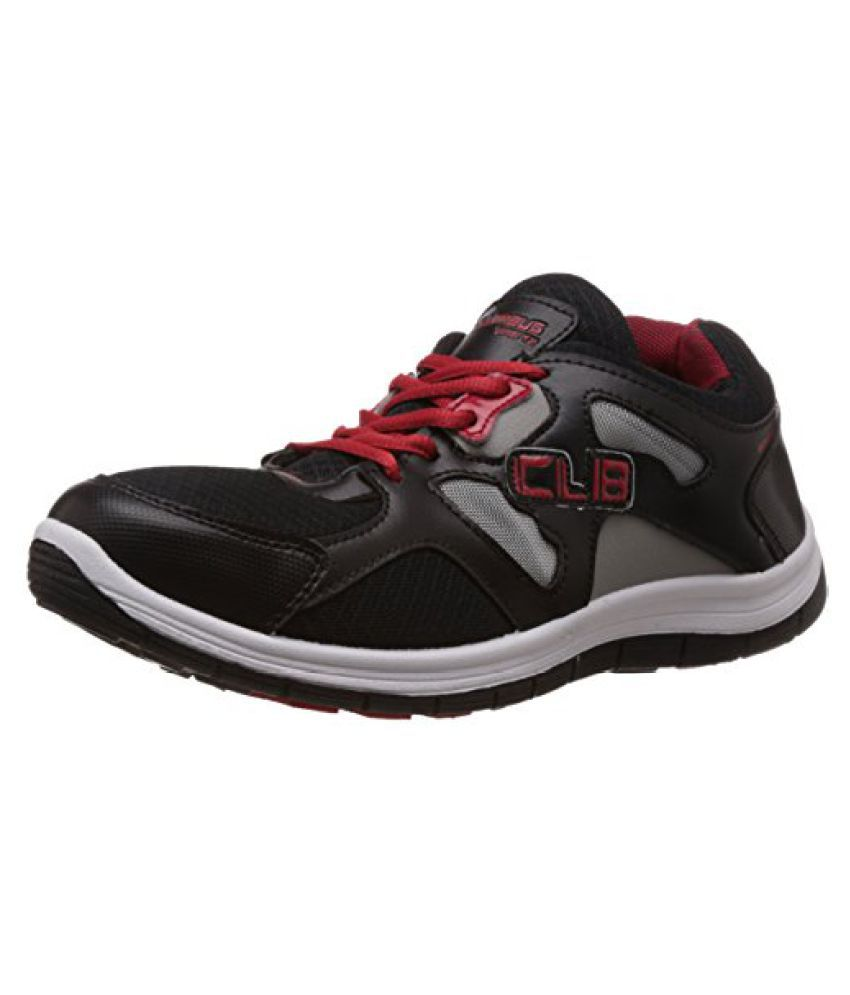 Columbus Men Black Red Sports Shoes
