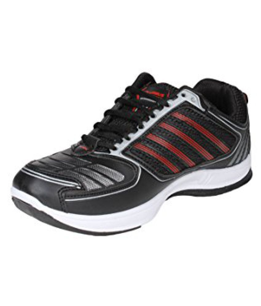 Columbus Men Black Red Sports Shoes