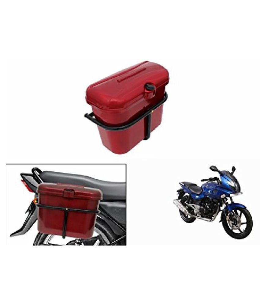 Speedwav Bike SLB-1 Side Luggage Box Red-Bajaj Pulsar 220 DTS-i