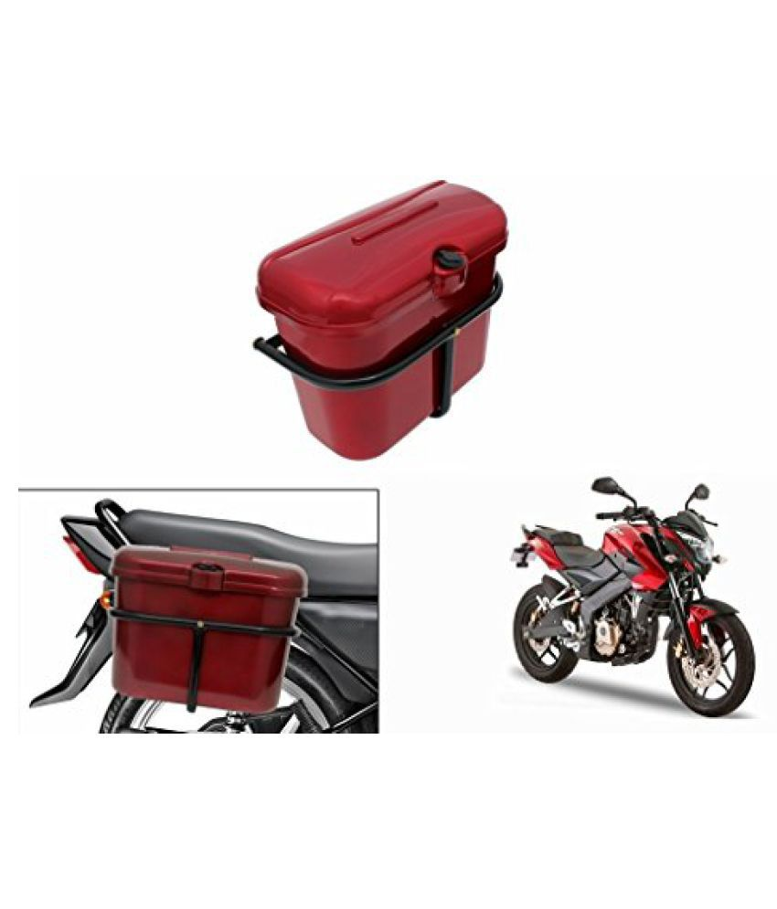 Speedwav Bike SLB-1 Side Luggage Box Red-Bajaj Pulsar 200 NS DTS-i