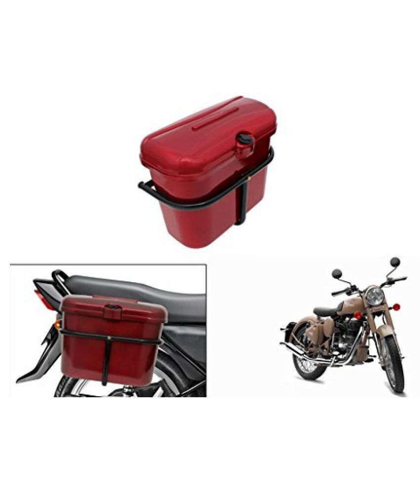 Speedwav Bike SLB-1 Side Luggage Box Red-R Enfield Classic Desert Storm