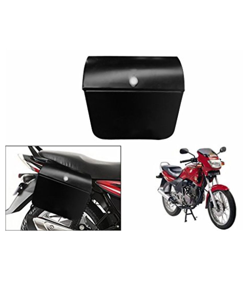 Speedwav Bike Side Steel Luggage Box Black-Hero CBZ Type 1